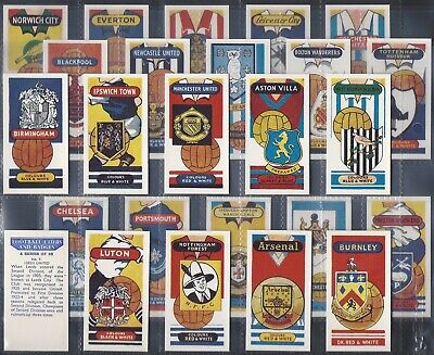 Anonymous Trade-Full Set- Football Clubs And Badges (25 Cards) - Exc+++