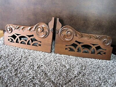 Pair Carved Fretwork Architectural Corbels Victorian Furniture Shelf Brackets