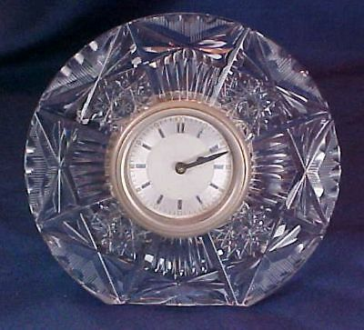 Antique Round Pressed Glass Clock Art Deco Style Face