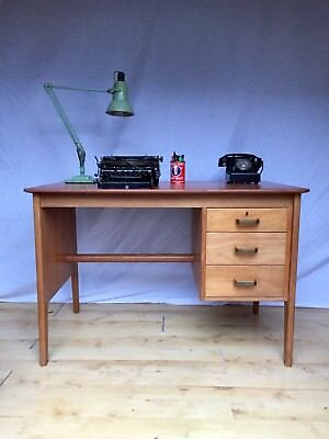 Mid Century Teak Gordon Russell Of Broadway Vintage  Antique Writing Table Desk