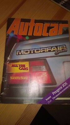 Autocar magazine 22 October 1983 Motorfair special plus Peugeot 205 tested