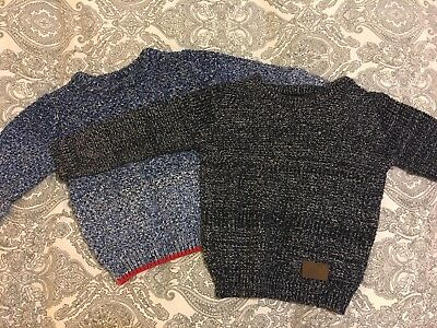 2x Little Boys Winter Jumpers/sweaters. Age 18-24 Months 1 1/2-2yrs From Next