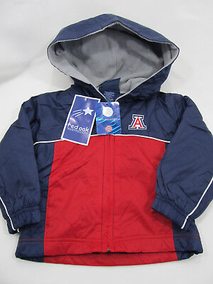 Arizona Wildcats Infants & Toddler Jacket Lined Wind Breaker 2T-4T Navy/Red NWT