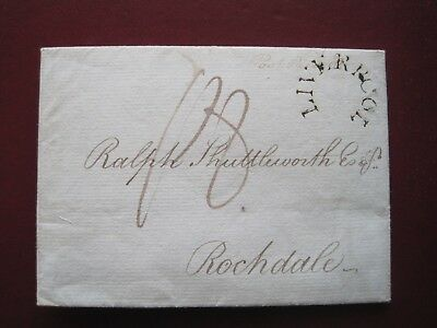 Very Fine Liverpool Horseshoe On 1798 Entire To Rochdale. Gb Postal History.