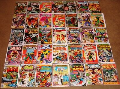 Lot of 87 Mixed Marvel Comics 1970s+ Iron Man Defenders Captain America Avengers