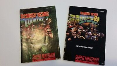 Donkey Kong Country & Donkey Kong Country 2 (SNES/Super Nintendo) -- Manual Only