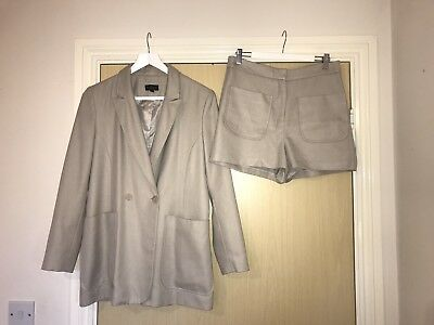 TOPSHOP Nude Pink Blazer Short Co-ord Suit SIZE 10/12