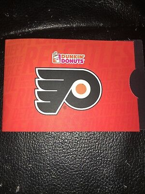 Collectable Philadelphia Flyers Dunkin Donuts Gift Card