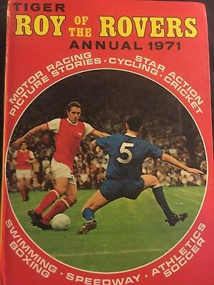 Tiger Roy Of The Rovers Annual 1971 Vintage