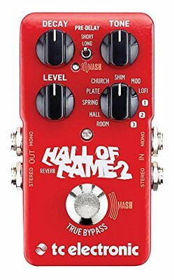 TC Electronic Hall of Fame 2 Reverb Guitar Effects Pedal True Bypass Stompbox