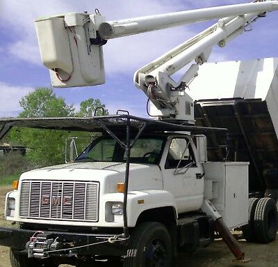 """1995 GMC Topkick Forestry Bucket Truck and 9"""" capacity Chipper"""