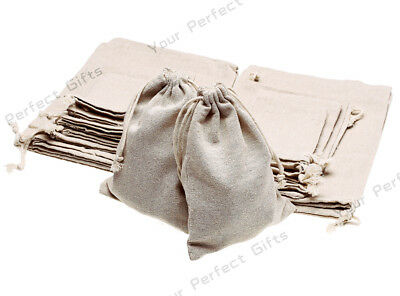 Lot of 25/50/100 Wedding Hessian Burlap Jute Favor Gift Bags Drawstring Pouch