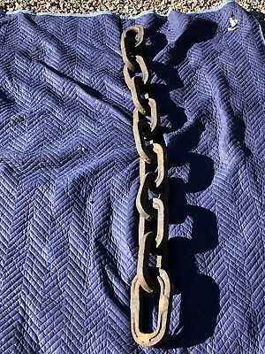 Vintage Late 1800's Rustic Mining Chain From Western Colorado Mine - 11 Links