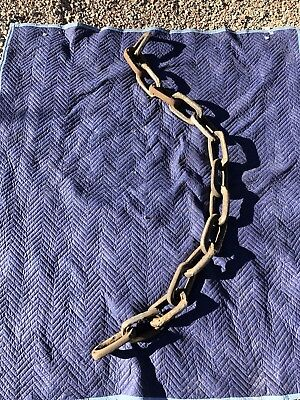 Vintage Late 1800's Rustic Mining Chain From Western Colorado Mine - 15 Links