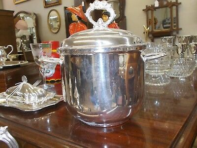 Silver Plate Ice Bucket With  Insert