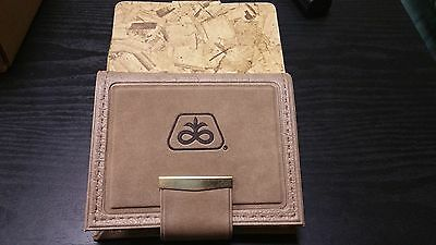 Pioneer Seeds Company Women's French Bifold Wallet, Brown Vinyl Small Vintage