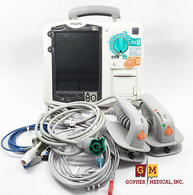 Philips MRX 3 Leads AED SP02 Hard Paddles AC-Adapter Battery & Accessories