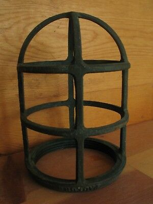 Vintage Light Cage Frame Pauluhn Boat Ship Nautical Bronze 6 1/4""