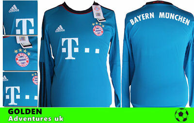 *13 / 14 - Adidas ; Bayern Munich Away Shirt Ls = Size*