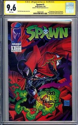 SPAWN #1 CGC SS 9.6 Signed By Todd McFarlane (1992 1st Print!!) In New CGC Case!