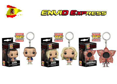 LLavero ONCE Funko pop Regalo Keychain Eleven Stranger Things Demogorgon