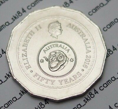 2016 Australian 50c Fifty Cent Coin Changeover 50th Anniversary EX-Bag UNC