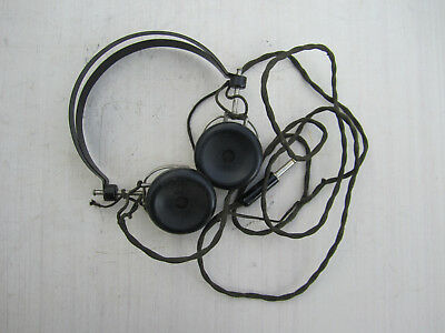 Vintage earphones with cord - maker unknown