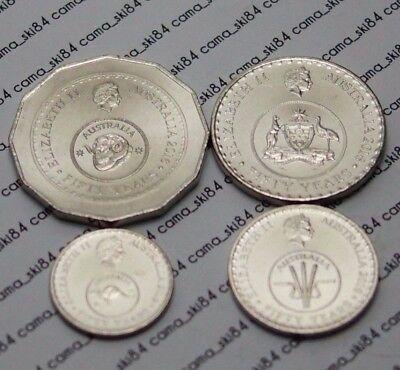 2016 Australian 5 10 20 50c Cent Coin Set 50th Anniversary Changeover EX-Bag UNC