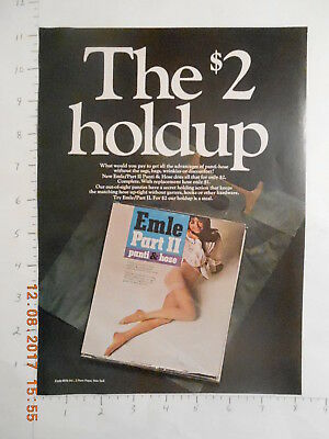 1969 Emle Mills Part II panti & hose hosiery AD pantyhose stockings sexy legs