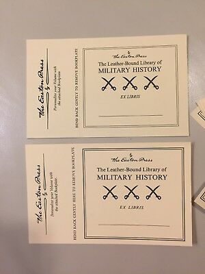Easton Press Bookplates Nameplates Plates Library of Military History Stickers
