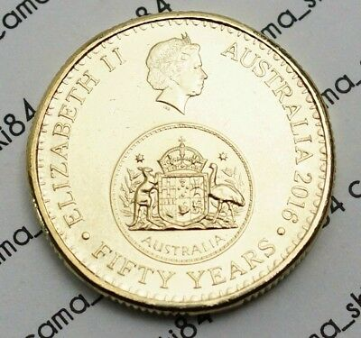 2016 Australian $1 One Dollar Coin Changeover 50th Anniversary EX-Bag UNC