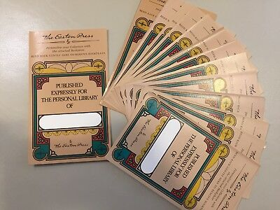 Easton Press Bookplates Nameplates Plates Expressly Personal Library Stickers