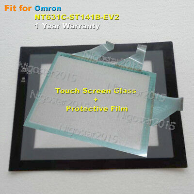 for Omron NT631C-ST141B-EV2 Touch Screen Glass + Screen Protective Film