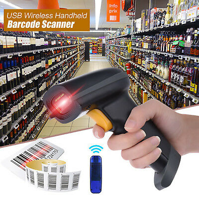 Wireless Barcode Scanner Reader For POS Apple IOS Android Windows 7/8/10