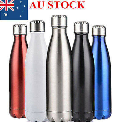 350ml-1L Stainless Steel Insulated Water Bottle Thermos Vacuum Flask Double Wall