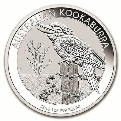 Perth Mint  Kookaburra 2016 1 oz .999 Silver Coin