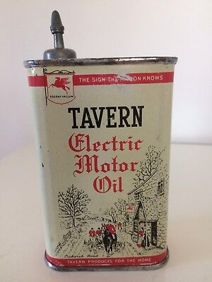 Vintage Mobil Oil Tin Can Handy Oiler