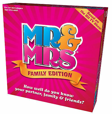 Mr and Mrs Family Edition Box Board Game Fun Kids Adults Couples Families *