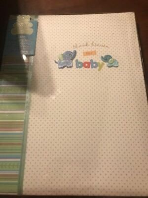 Carters Baby Memory Book Boy CR Gibson 5 Year Keepsake Scrapbook Photo Album