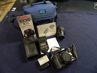 Canon EOS 10s 35mm Pkg:SLR Body, Ultrasonic Lens, 430EZ Flash, RC-1 Remote, Case