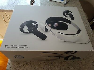 DELL VR virtual reality MR mixed reality headset visor and controllers BRAND NEW
