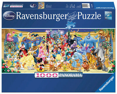 Ravensburger Jigsaw Puzzle Disney Group Photo Panorama 1000 Pieces #15109
