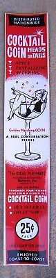 Cocktail Coin Ideal Playmate  Vintage Condom Machine Decal
