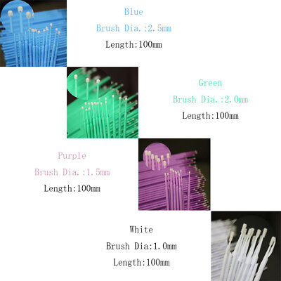 100 PCS Dental Disposable Micro Applicator Brush Bendable 1.0/1.5/2.0/2.5mm