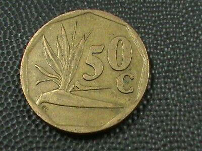 SOUTH  AFRICA    50  Cents    1991