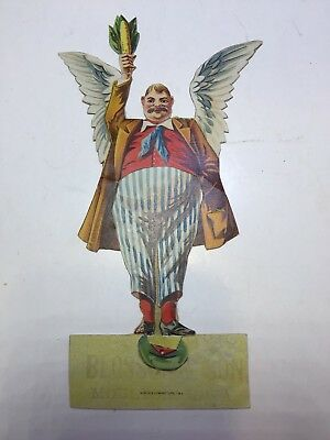 Vintage advertising trade card, MOLINE PLOW CO Moline, Illinois, man with wings?