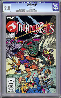 Thundercats #2 Cgc 9.8 White Pages Star Marvel