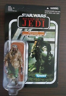 Star Wars Vintage Collection Rebel Commando(VC26) Black Version Unpunched Hasbro