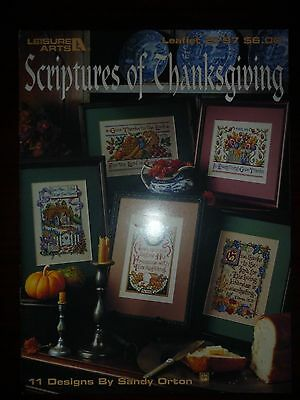 Leisure Arts Cross Stitch Pattern Leaflet/book 2797 - Scriptures Of Thanksgiving