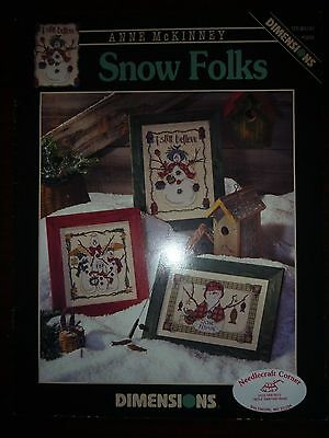 Dimensions Anne Mckinney Cross-Stitch Pattern Leaflet #259 - Snow Folks